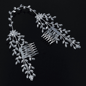 Image 4 - מצנפות וכתרים HADIYANA חדש אופנה כלה שיער אביזרי מקסים יוקרה אלגנטי לנשים זירקון BC4860 Accesorios Mujer