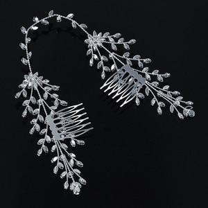 Image 4 - Tiaras And Crowns HADIYANA New Fashion Wedding Hair Accessories Charming Luxury Elegant For Women Zircon BC4860 Accesorios Mujer