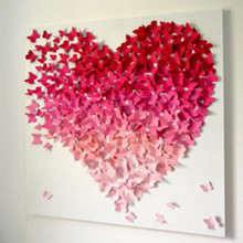 Real Wall Stickers Diy Stickers Free Shipping 36pcs 3d Butterfly Tatoos Wall Sticker Home Decoration Decals