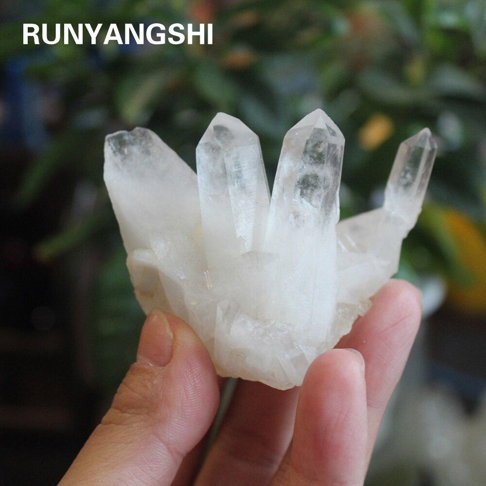 1pcs Natural Stone White Crystal Clear Quartz Crystal Cluster Energy Ornaments White Quartz Cluster Crystal Mineral Specimen