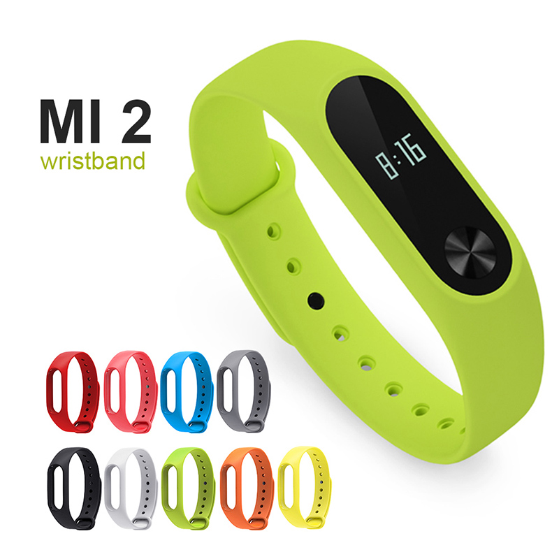 Smart Watch Strap for Xiaomi Bracelet 2 Wristband with TPU Fit Silicone Strap Color Replacement Wristband for Xiaomi Bracelet 2 in Smart Accessories from Consumer Electronics