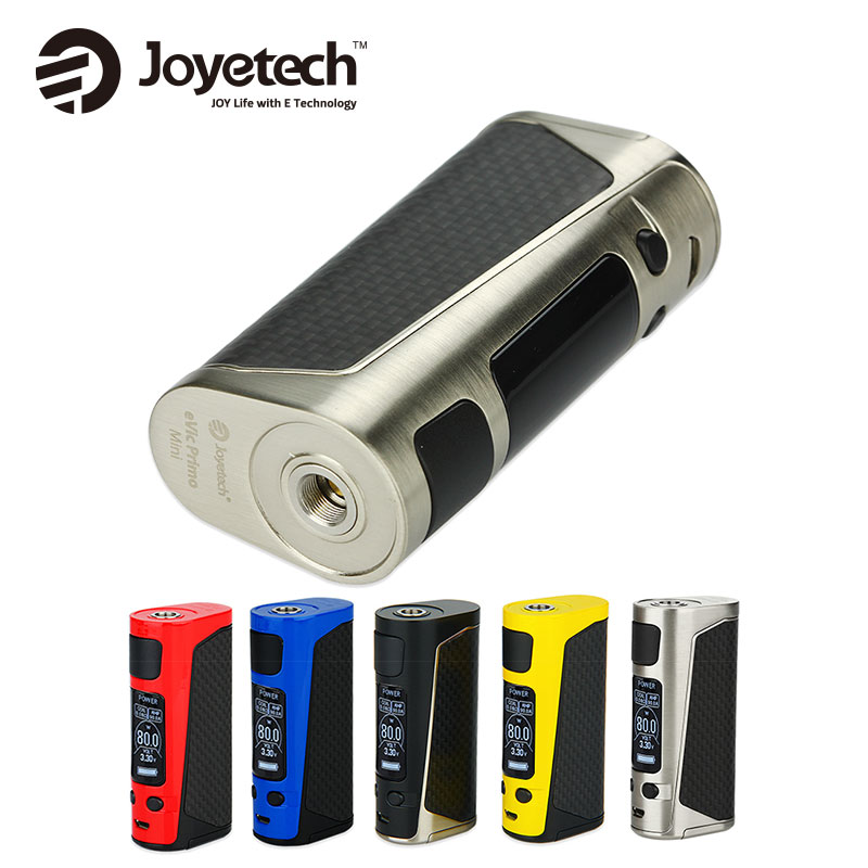Original 80W Joyetech eVic Primo Mini TC Box MOD Vaping eVic Primo Mini Temper Control Mod E-cigs without 18650 Battery E-cigar owl cuban cigar e juice