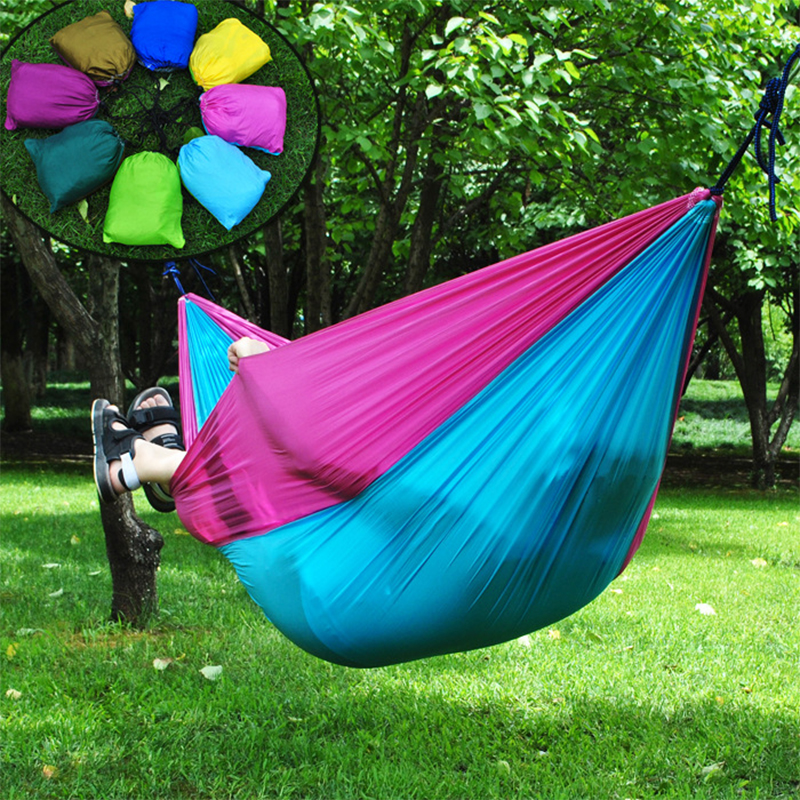 outdoor portable inflatable hammock stand c&ing parachute garden hammock tent chair hanging chair indoor double hammock swing-in Hammocks from Furniture ... & outdoor portable inflatable hammock stand camping parachute garden ...