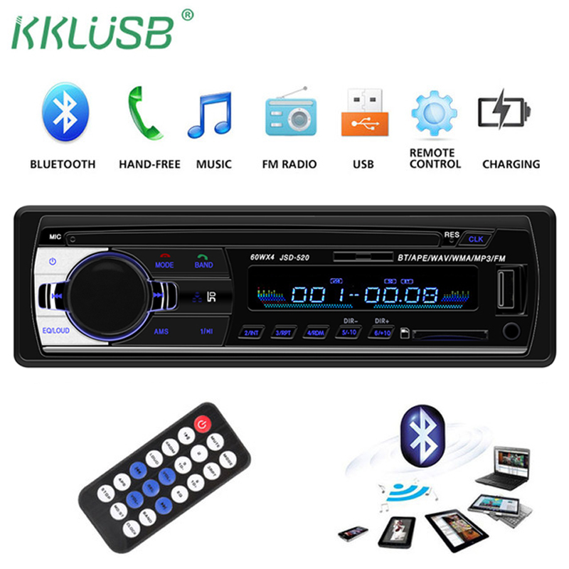 Autoradio Recorder Car-Player Audio Aux-Input 1-Din Bluetooth Mp3 Oto-Teypleri Usb Sd