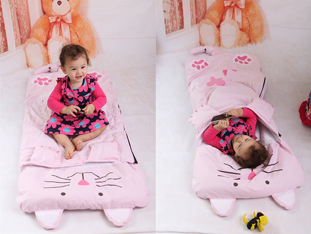22031085d4 Baby Sleeping Bags Kids Sleeping Sack Infant Toddler Winter Warm Sleepsack  Cartoon Rabbit Crocodile Dinosaur Totoro