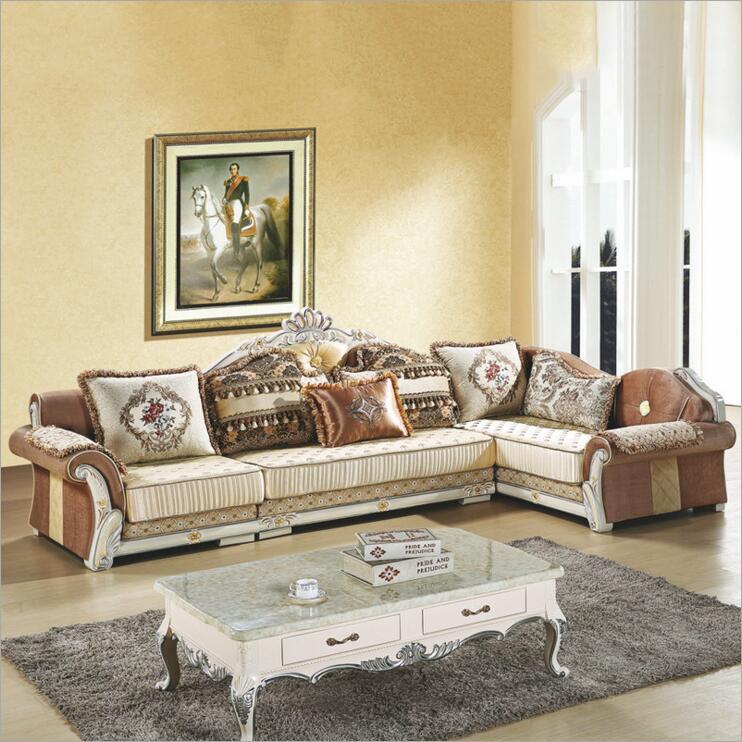 Living Room Furniture Modern Fabric Sofa European Sectional Sofa Set A1266