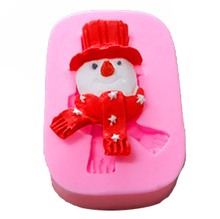 ФОТО   snowman cooking tool Silicone Fondant Gum Paste Mold Cake Decorating Clay Resin sugar Candy Fimo Sculpey