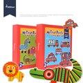 Дети 6-in-A-box Большой Бумаги Головоломки Игрушки Животных Автомобиля Головоломки Игры Игрушки Для Детей, Детские Развивающие Игрушки 2 лет +