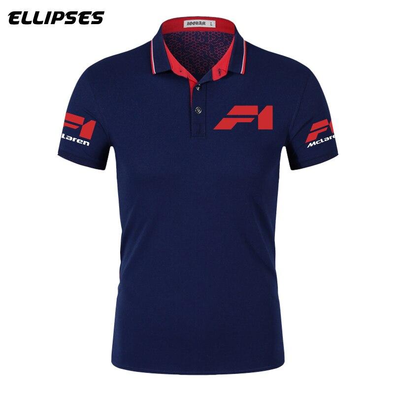McLaren Polo Shirt For Man Summer McLaren Logo Polo Shirt Short Sleeve Male Cotton Turn-down Collar Tops Polo Shirt Men