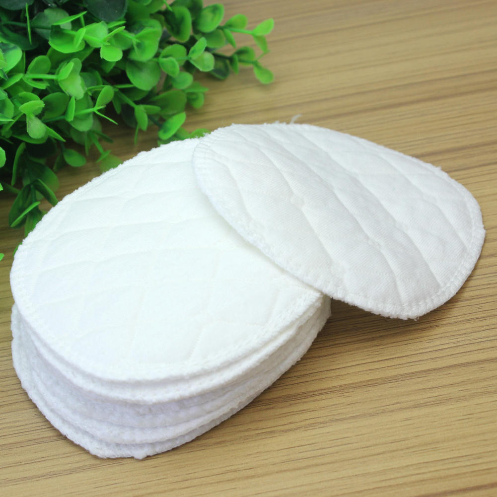 12pcs/Lot New White Reusable Breast Pads Soft Cotton Washable Anti-overflow Nursing Pads Spill Prevention Baby Mommy Feeding Pad