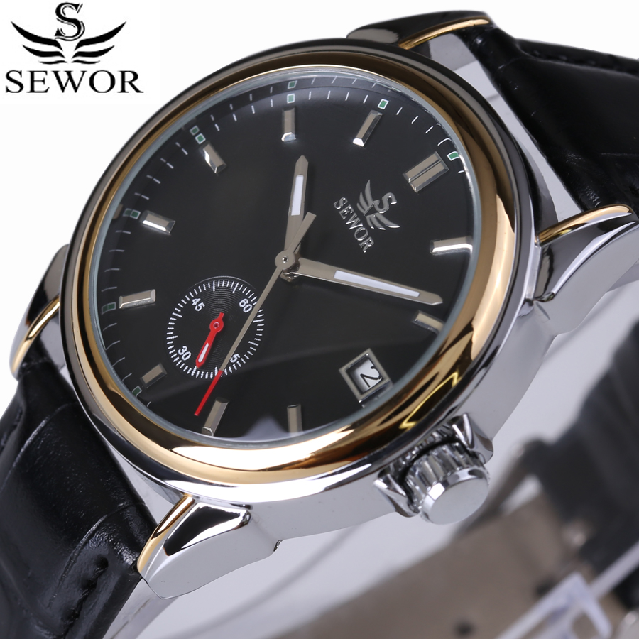 Rattrapante Date Function Luxury Men Watches Top Brand Automatic Mechanical Watch Genuine Leather Strap Fashion Leisure Clock
