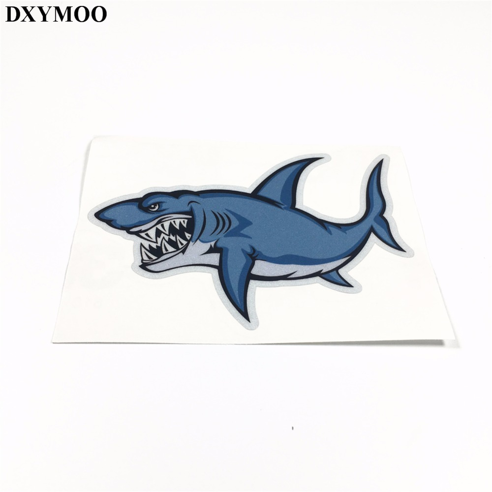 3 Sizes Car Stickers Animal Water Sports Fishing SHARK Warning Motorcycle Helmet Laptop DIY Sticker Decals Reflective H0495 black kayak boating water sports helmet abs out shell prefessional water skiing helmet