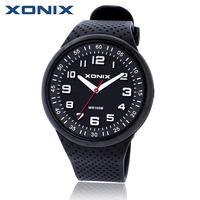 Xonix Fashion Mens Watches Top Brand Luxury Sports Watches Waterproof 100M Quartz Watch Swimming Diving Hand
