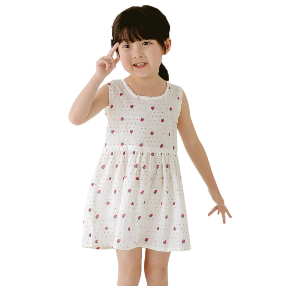 2-7 Y Baby Girls Summer Dress Lovely A-Line Sleeveless Floral Princess Dresses Children Clothing Kids Party Clothing For Girls 2016 new summer lovely girls dress kids colorful a line leisure fashion dresses children clothing