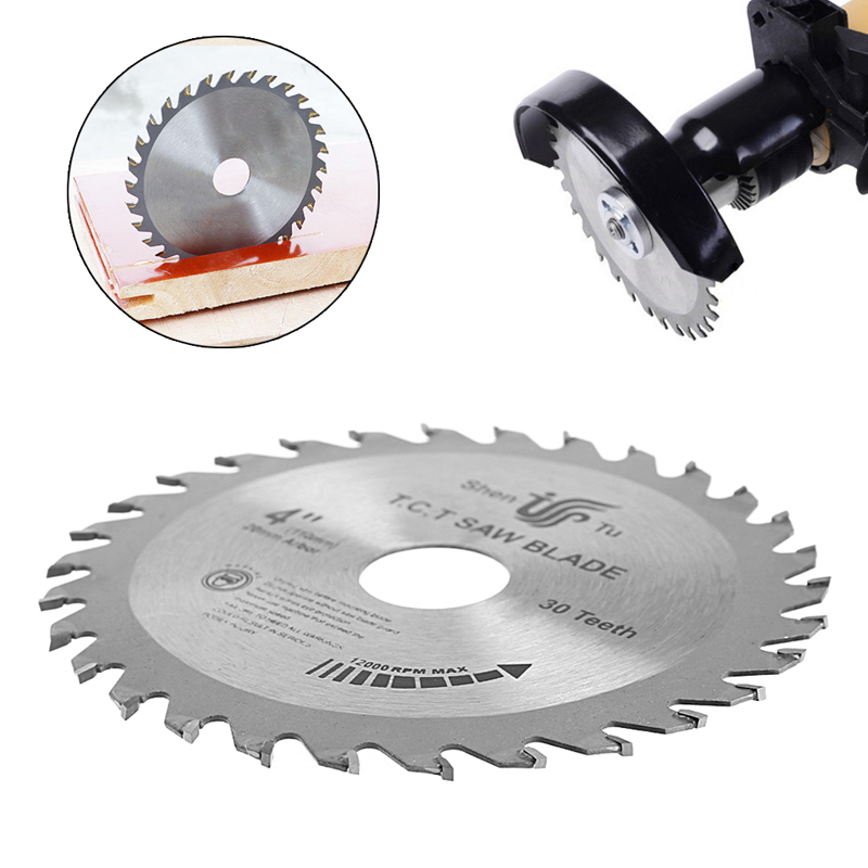 Circular Sawing Blade Wood Cutting Round Discs Sawing Cutter Tools  4 Inch 30T
