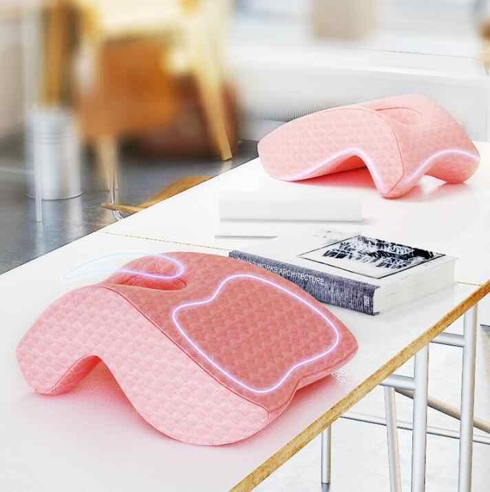Подушка-подушка из пены памяти, Настольная Подушка для сна с полым дизайном, идеально подходит для поддержки лица и кровати, удаляемый моющийся чехол