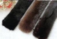 צווארון הפרווה מינק משלוח חינם צווארוני גברים בדרגה גבוהה מיובא צווארון מינק חום / שחור
