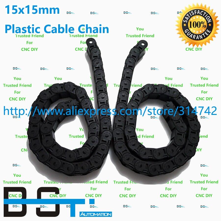 1 лот(5 шт.* 1000 мм = 1 лот) 15 мм* 15 мм ЧПУ Пластик кабель цепи 15x15 цепной