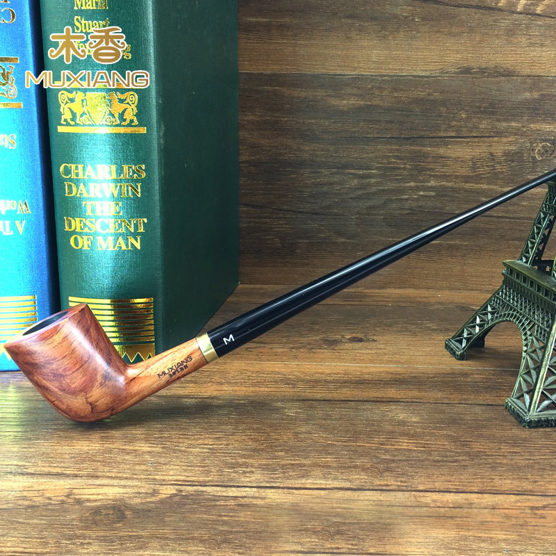 Rosewood Tobacco Pipe ,Annatto long handle pipeSmoking tool.Wooden pipe,Men's gift