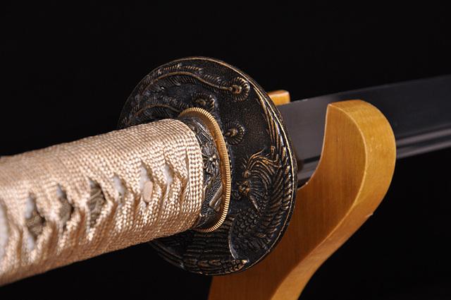 HIGH QUALITY JAPANESE SAMURAI SWORD KATANA BLACK NINJA FULL TANG BLADE SHARP