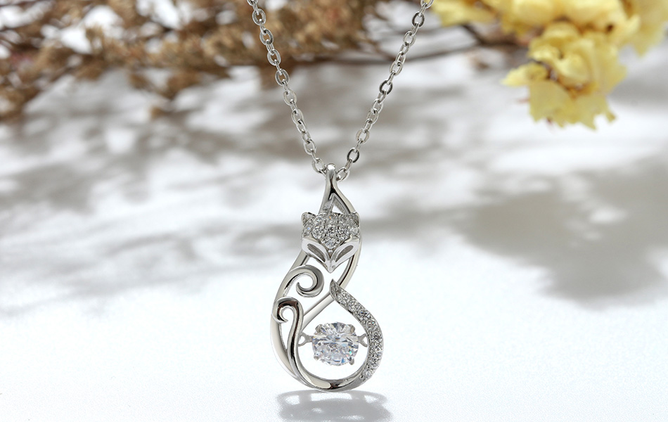 HTB1HFQhKeOSBuNjy0Fdq6zDnVXaH Effie Queen Crystal Women S925 Sterling Silver Necklaces Cute Fox Pendant Necklace for Women Lady Girl Jewelry Best Gift BN53