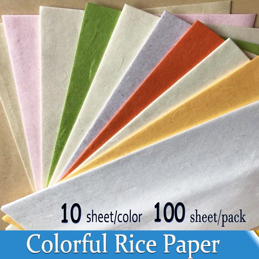 10 colors/pack A4 Chinese Rice Paper for Painting Calligraphy Colorful Xuan Paper Artist Art Supplies Print Xuan Paper