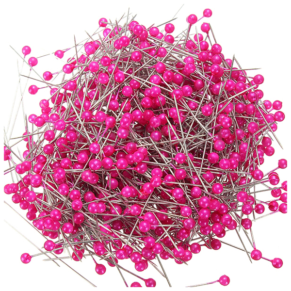 800 X Pearl Round Head Dressmaking Sewing Pins Decorating Wedding Florist Corsage Rose Red maquina de coser de mano