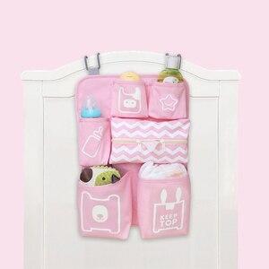 Image 3 - Baby Crib Organizer Newborn Diaper Stacker Stroller Bag Bottle Holder Storage Infant Baby Items Baby Bedding Set Accessories