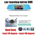 new arrival 5 inch Full HD Car Rearview Mirror DVR Car Camera Parking Night Vision Dual Camera Video Recorder