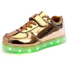 СВЕТОДИОДНЫЕ Светящиеся Обувь для Мальчиков Девочек Мода Свет Случайные дети Кроссовки Открытый Светящиеся Дети Тапки LED Обувь дети