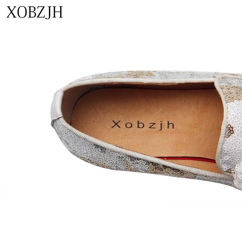 Мужская обувь Лоферы XOBZJH, белые лоферы на свадьбу, лето 2019 - 6