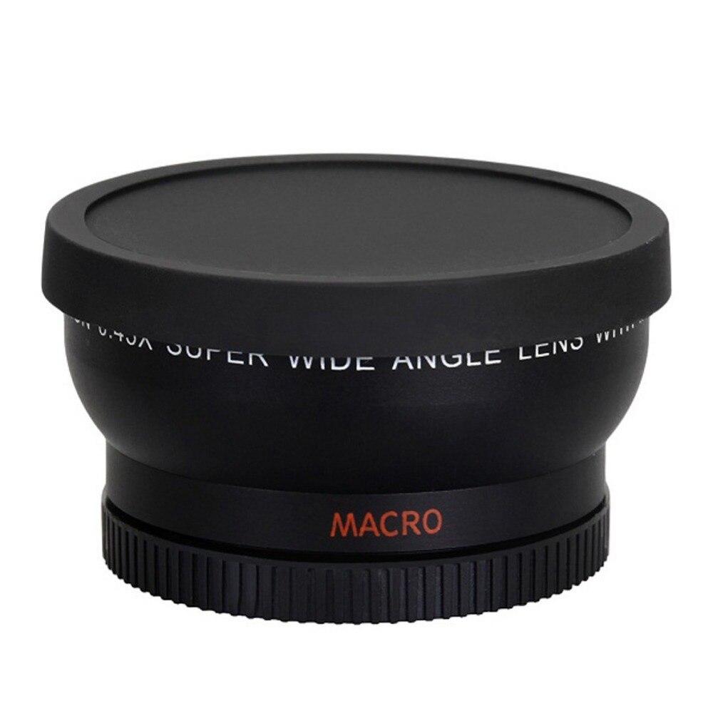 58mm 0.45x wide angle lens per canon eos 1000d 1100d 500d rebel t1i t2i t3i l3ef