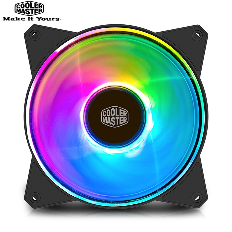 Cooler Master MF120 ARGB 12cm RGB 5V/3PIN Computer Case Quiet PWM Fan PC Radiator CPU Cooler Water Cooling 120mm Replaces Fans