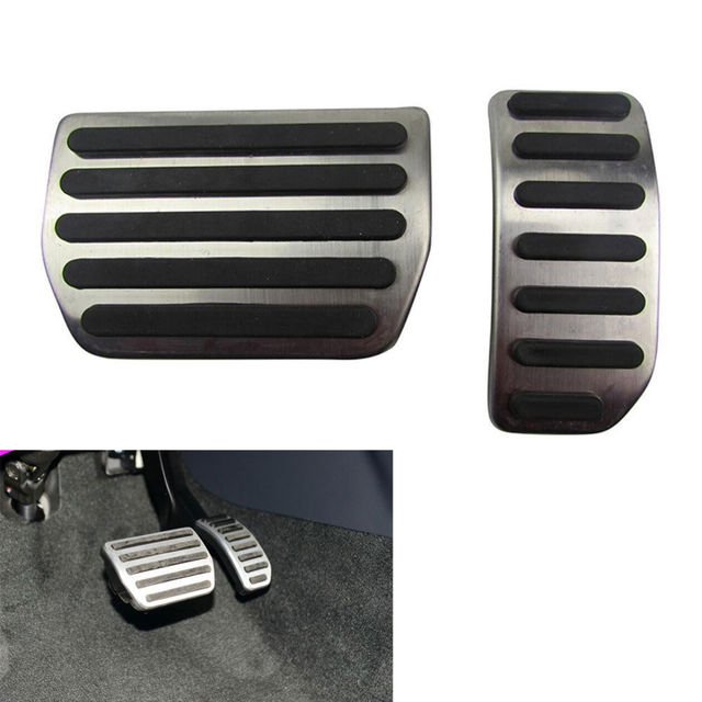 NO DRILL Steel Foot Pedal Fit For Vol-vo S60 V60 XC60 S80 S 60 AT Automatic Gas Brake Car Accessories