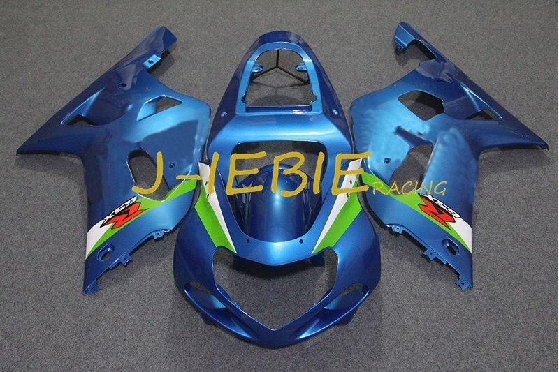 Blue Injection Fairing Body Work Frame Kit for SUZUKI GSXR 600/750 GSXR600 GSXR750 2001 2002 2003
