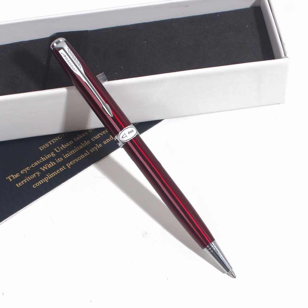 Sonneting Rollerball ปากกาโลหะ office Classic gold black gold คลิปปากกาของขวัญกล่อง Silver square Gold