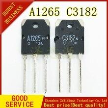 2 زوج = 2 قطعة A1265N 2 قطعة C3182N 2SA1265 2SC3182 الدوائر المتكاملة