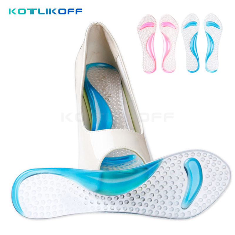 KOTLIKOFF Feet care gel 3/4 lady insoles with arch support and cushion orthotics and orthopedic high heels shoes pad and sandals