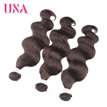 UNA HUMAN HAIR Peruvian Body Wave Hair 3 Bundles Deal 100% Human Hair Bundles Non-Remy Hair Bundles Color #1 #1B #2 #4 недорго, оригинальная цена