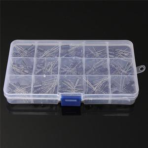Image 3 - Kit de caja surtido de condensadores electrolíticos de alta calidad, 15 valores, 200 uds, almacenamiento de organización, 0,1 220uF