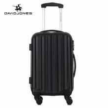 DAVIDJONES 20 inches hardside luggage carry on trolly suitcase