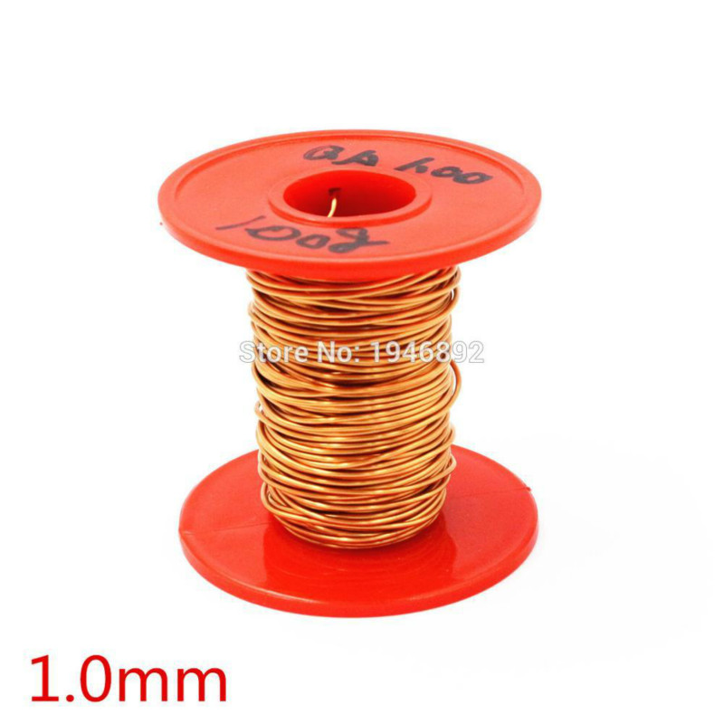 цена на New Arrivals 1.0mm 100g/pcs QA-1-155 Copper Wire/Red Enameled copper wire Straight Welding,Free Scraping Paint