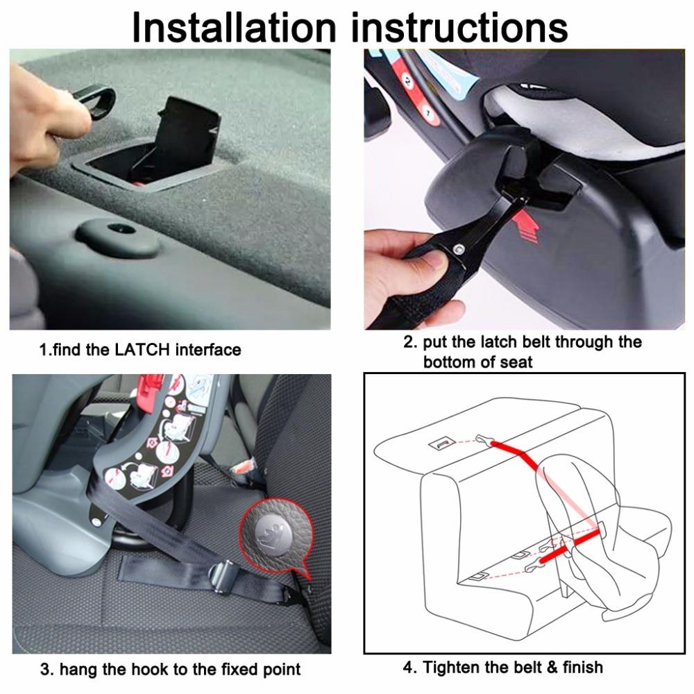 Car Baby Safety Seats Belt Latch Interface Strap Hook Holder Adjustable Seat Straps