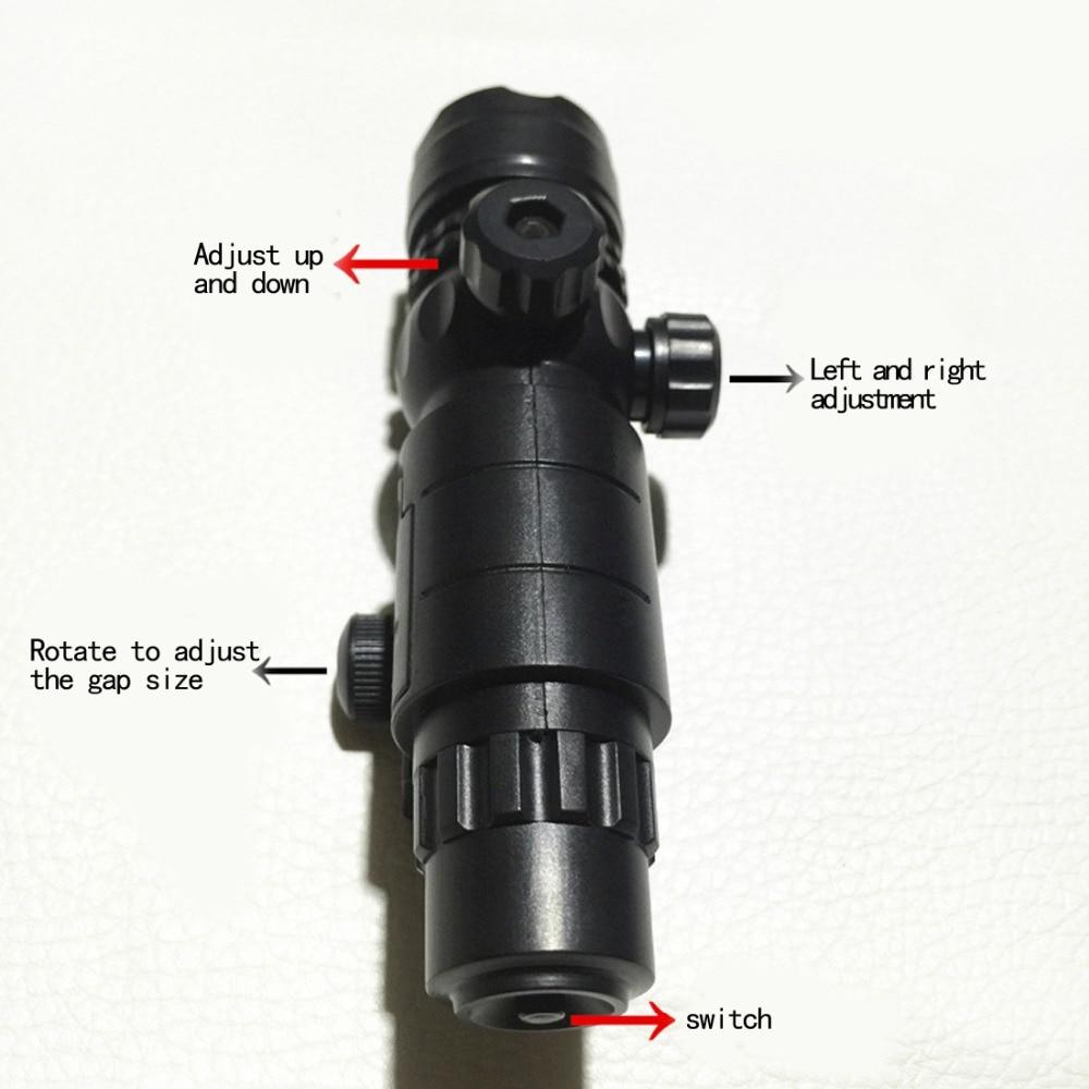 Тактический Пластик регулируемый инфракрасный лазерный свет лампы для nerf-черный