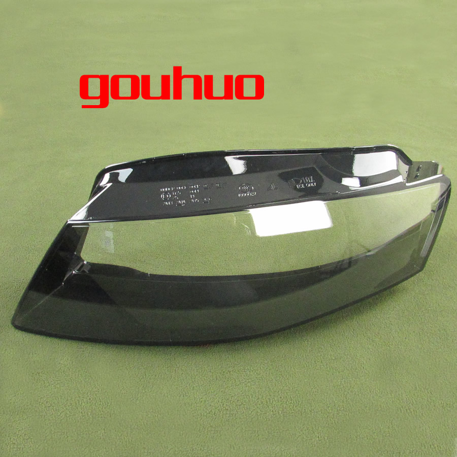 For 09 12 Audi A4 A4l B8 Headlight Lamp Shade Special Transparent Lampshade Headlights Shell Headlamps Cover Glass 2pcs