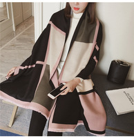 FOLOBE Vintage Patchwork Pareo Spring Autumn Womens Scarves Soft Wraps Blankets Wool Cashmere Cloaks Wraps Cloaks Free Shipping