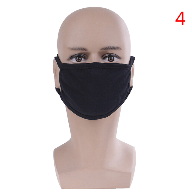 Unisex Black Anti-Dust Cute Bear Cotton Mouth Face Mask Respirator For Cycling Anime Cartoon Kpop Lucky Bear Women Men Muffle 4