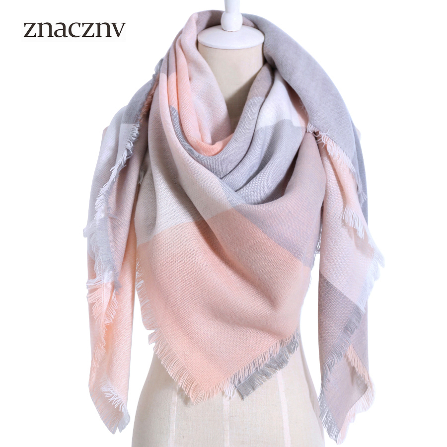 2018 Winter Brand Plaid Women Warm Acrylic Scarf Oversized Square Blanket Wrap Long Wool Shawls and Scarves
