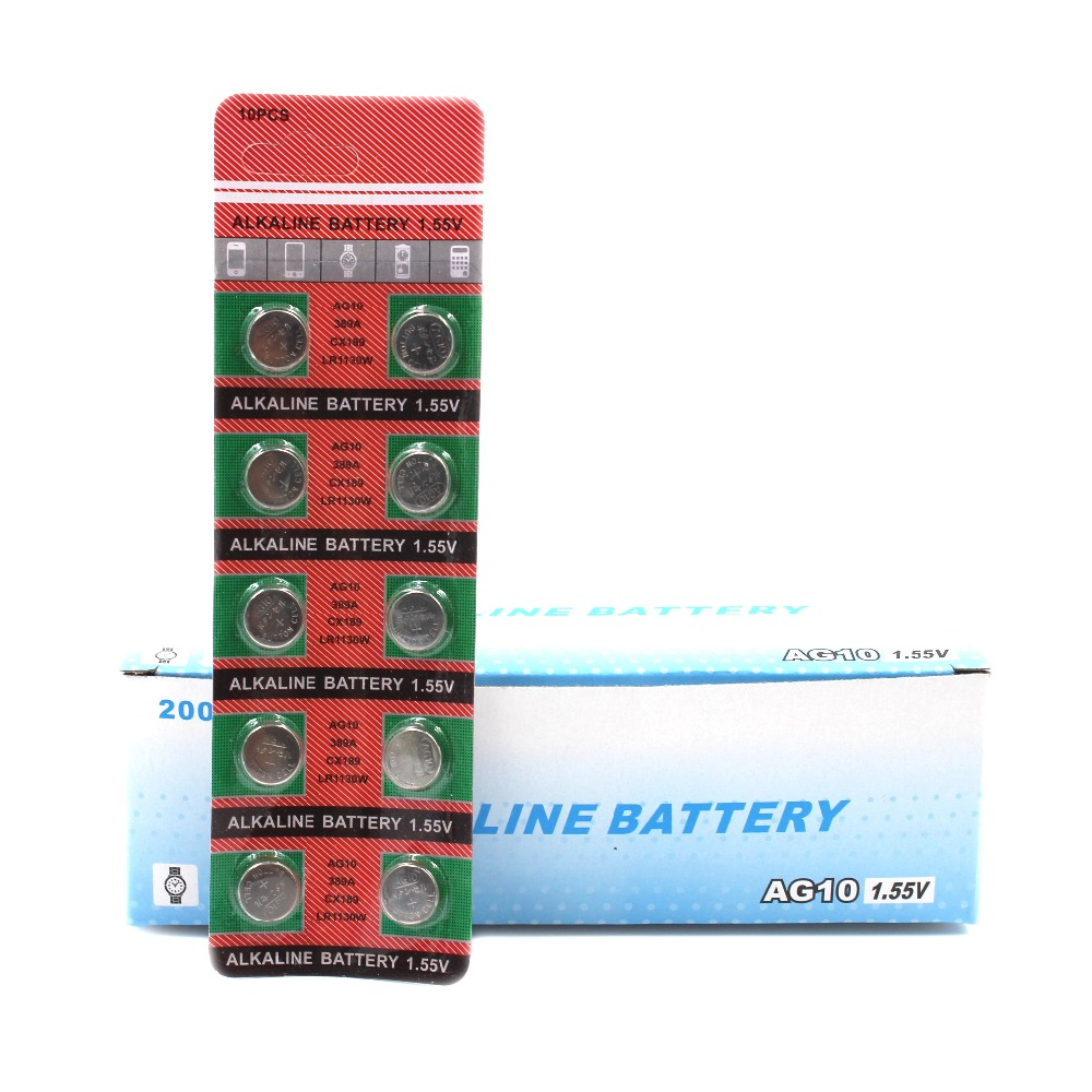 20PCS AG10 LR1130 389 SR1130 Button Batteries 189 LR54 Cell Coin Alkaline Battery 1 55V SR54 389 189 For Watch Toys Remote in Button Cell Batteries from Consumer Electronics