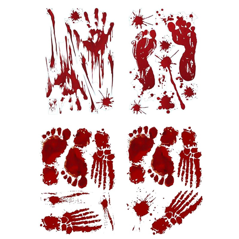 Bloody Zombie Hand Toilet Cover Decor Sticker Props Scary Unique Gifts Halloween